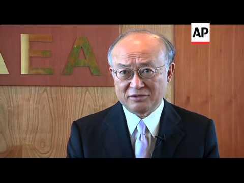 Yukiya Amano comments on Fukushima nuclear disaster