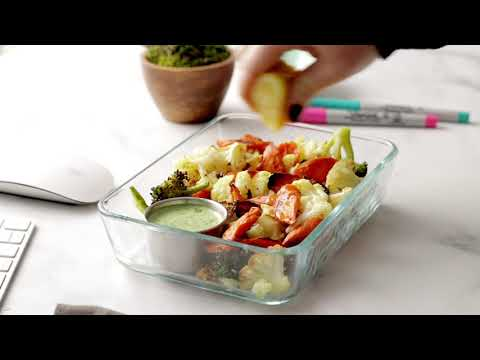 Roasted Veggie Bowls with Green Tahini