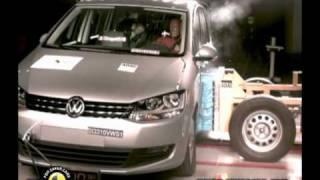 Краш-тест и видео краш-тест Volkswagen Touran (Фольксваген Тоуран)