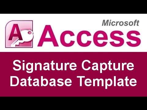 Microsoft Access Electronic Signature Capture Database Template