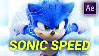 RUN SUPER FAST like SONIC in AFTER EFFECTS