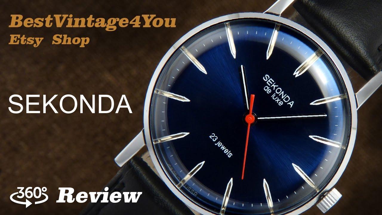 fd29d95ff982 Hands-on video Review of Sekonda De Luxe Ultra Slim Soviet Mens Watch From  70s