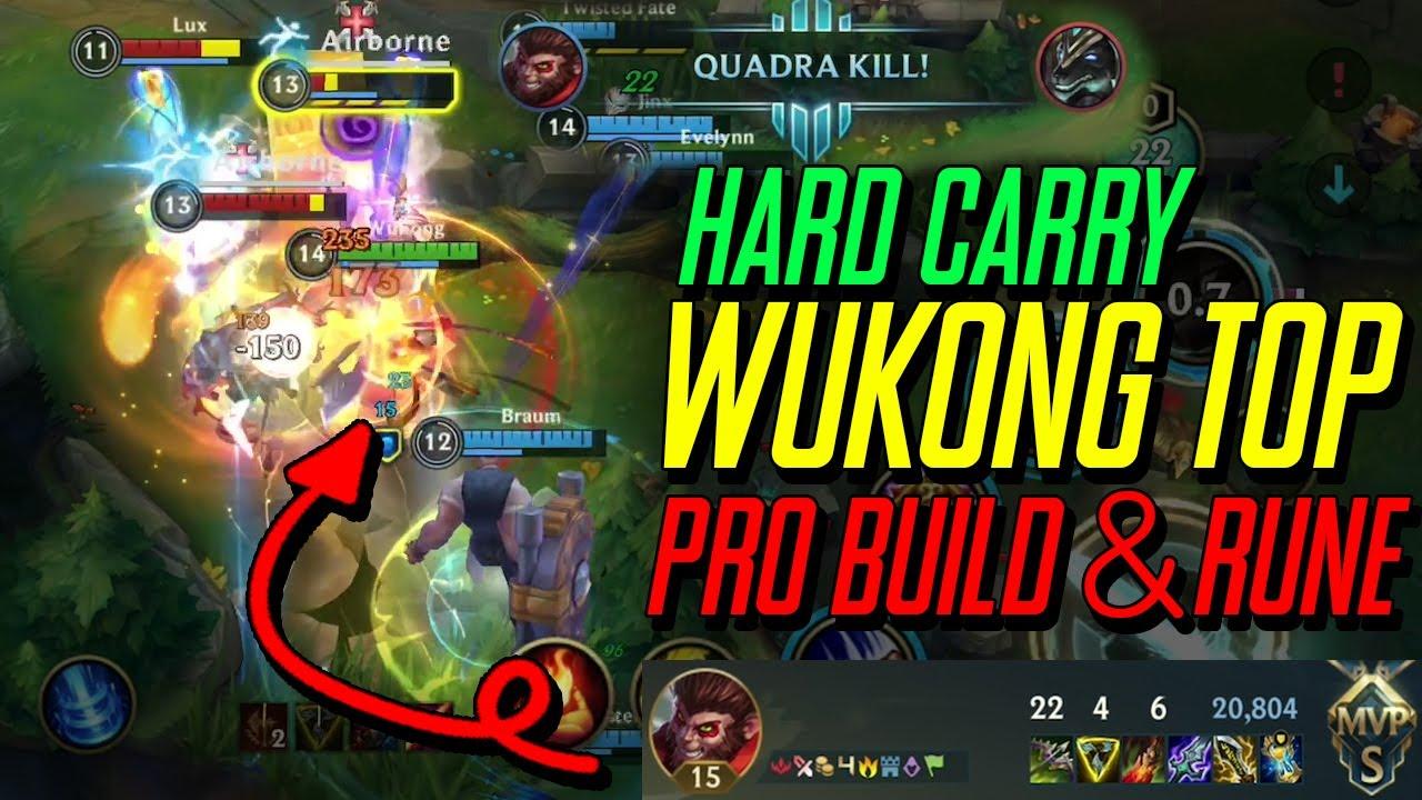 버프먹은 탑 오공으로 강제로 이기게 만드는법 TOP Wukong BUFF!! Hard Carry Team!! PRO BUILD & RUNE