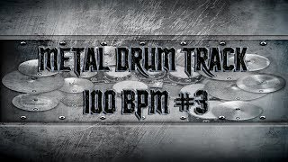 Groovy Metal Drum Track 100 BPM | Remix (HQ,HD)