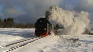 Steam Train of the HSB with an awesome Whistle in Benneckenstein, Germany
