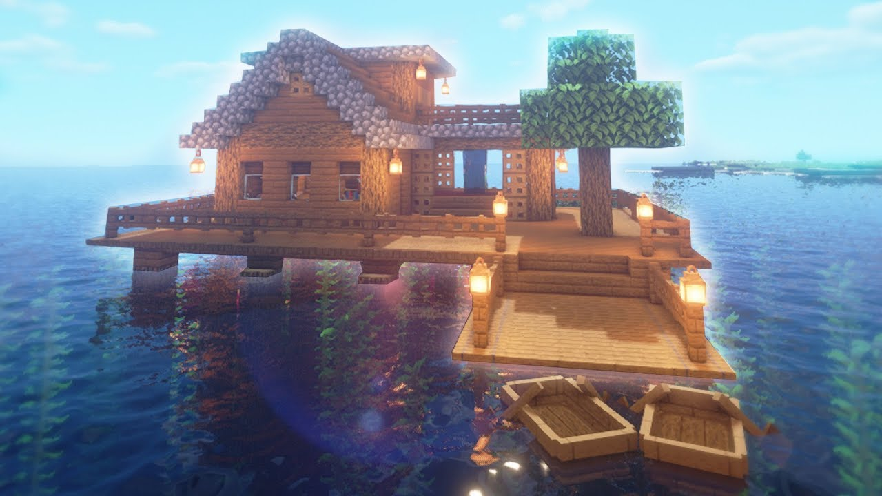 Minecraft: Simple Floating Warer House Build | EASY ...