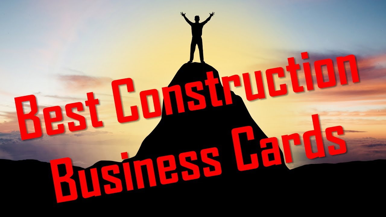 Best construction business cards youtube colourmoves