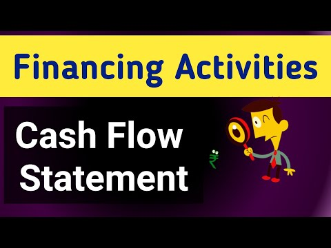 financing activity in a cash flow statement