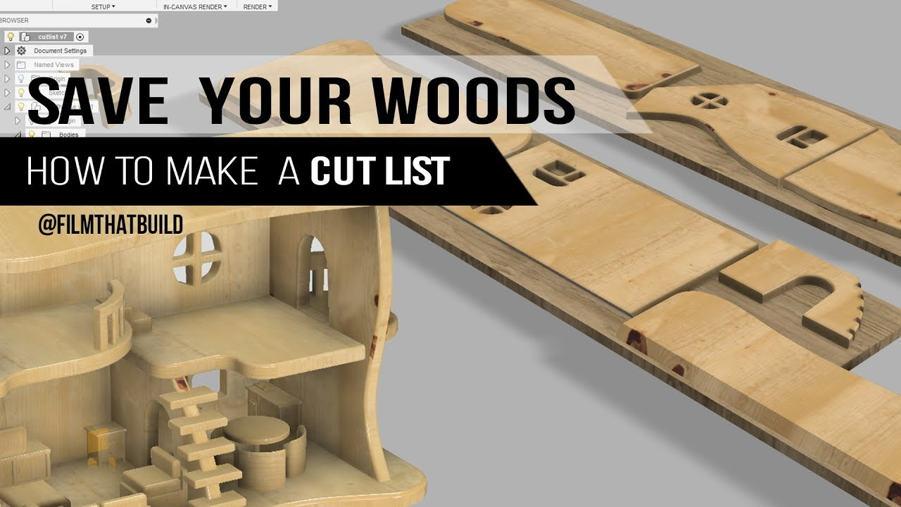 How to make a Cut list - Woodworking | Fusion 360