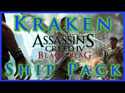 AC IV BLACK FLAG | KRAKEN SHIP PACK | KRAKEN SAILS WHEEL & FIGUREHEAD DLC | HD