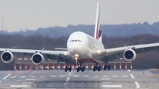 """Airbus A380 CROSSWIND Difficulties - Storm """"Axel"""""""