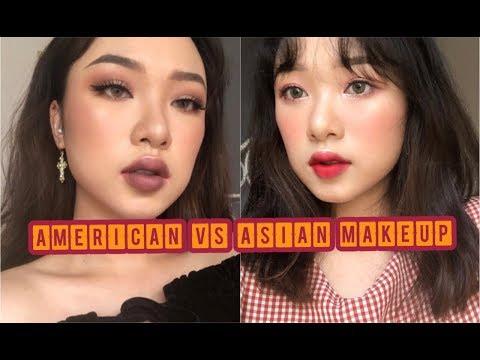 AMERICAN VS ASIAN MAKEUP | TRANG ĐIỂM PHONG CÁCH ÂU MỸ VS HÀN QUỐC | LINGMAKEUP