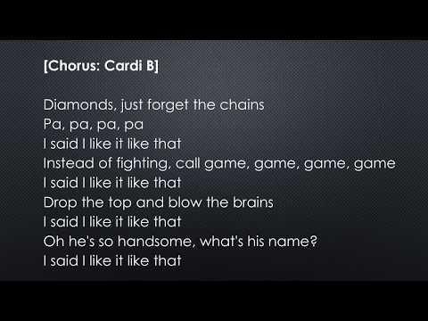 Cardi B   I Like It feat  J Balvin & Bad Bunny official lyrics