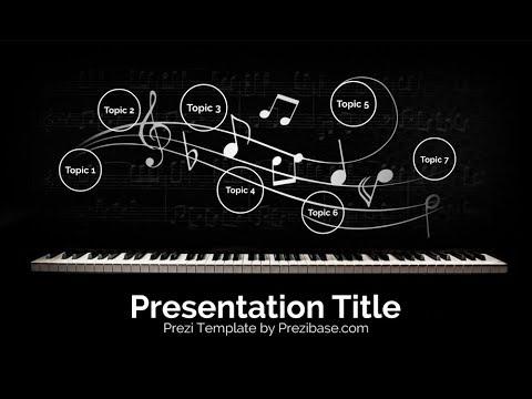 my symphony - prezi presentation template - youtube, Presentation Template Music, Presentation templates