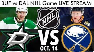DAHLIN VS HEISKANEN! Sabres vs Stars NHL Game LIVE STREAM! (Hockey Reaction & Rumor Talk 2019)
