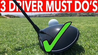 3 MUST DO'S FOR BETTER DRIVES - SIMPLE GOLF TIPS