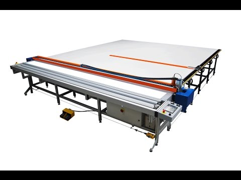 Roller Blind Cutting Table REXEL US-2 (4m cut) - YouTube