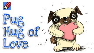 How to Draw the Pug Hug of Love Real Easy