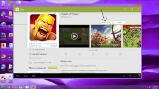 CLASH OF CLANS ON PC - PC/MAC android emulator TUTORIAL ANY APP