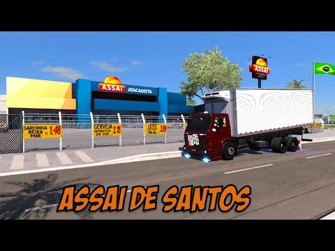 ACIDENTE NA IMIGRANTES, ENTREGA NO ASSAÍ ATACADISTA DE SANTOS - ETS 2