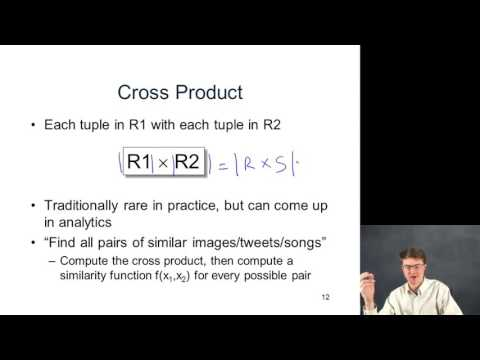 2   5   Relational Algebra Details  Project, Cross Product, Equi Join 11 06