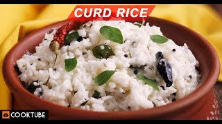Curd Rice Recipe | South Indian Rice Recipe | Easy Homemade Dahi Chawal