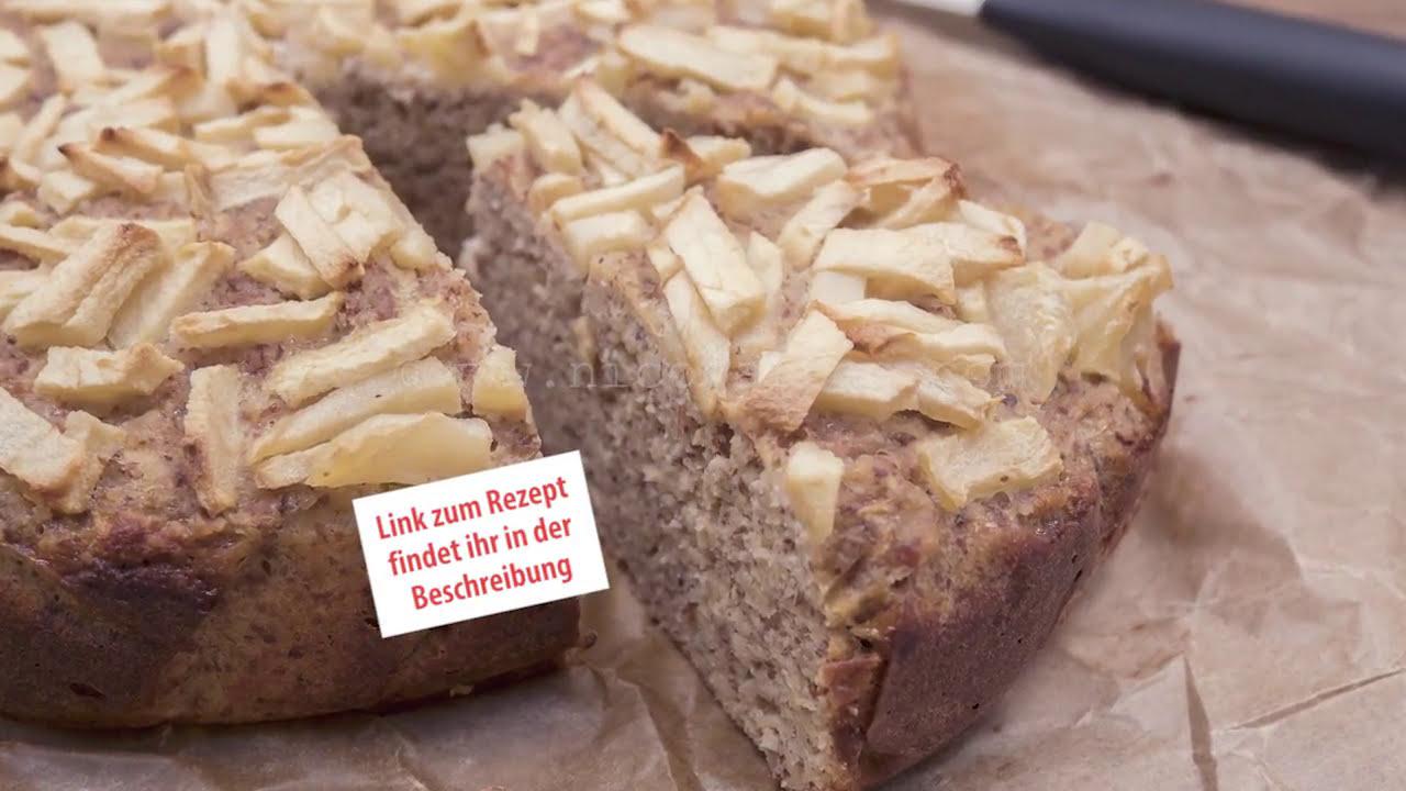 Wirklich Schneller Low Carb Apfel Kuchen Mit Nussen Youtube