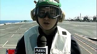 WATCH: Duterte cabinet secretaries visit US aircraft carrier