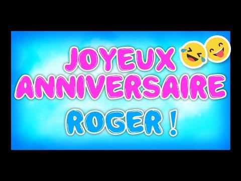 Carte Bonne Fete Roger.Joyeux Anniversaire Roger Happy Birthday