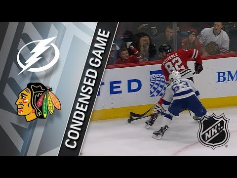 Tampa Bay Lightning vs Chicago Blackhawks – Jan. 22, 2018 | Game Highlights | NHL 2017/18.Обзор игры