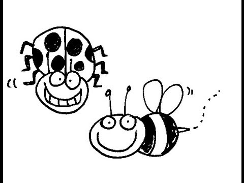 Cute insect drawing - photo#46