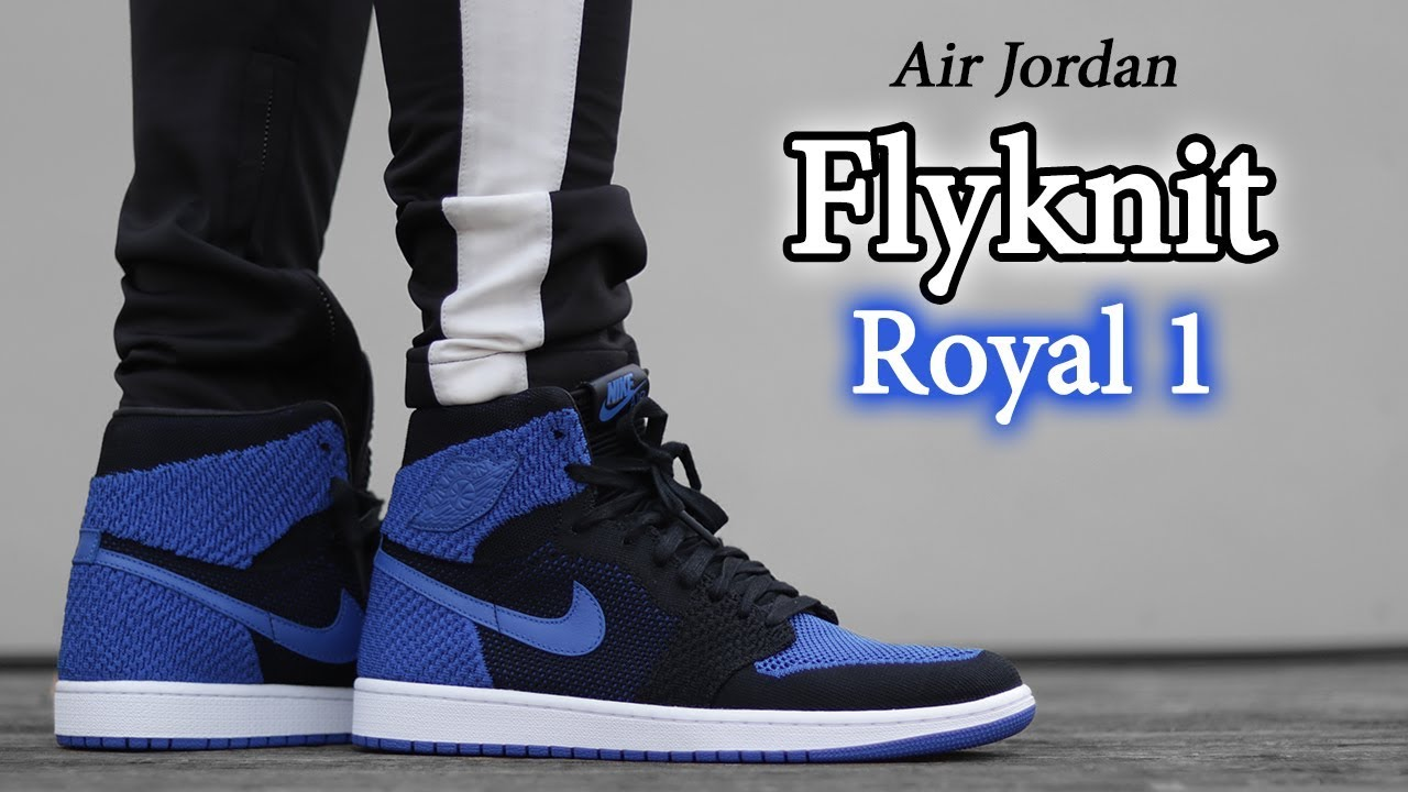 official photos 8f9e7 f8822 Air Jordan 1   Flyknit Royal Blue   On-Feet   Close Up w  Different Pants