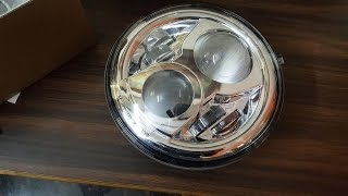 royal enfield headlight conversion with a j w speaker model 8700 evolution 2