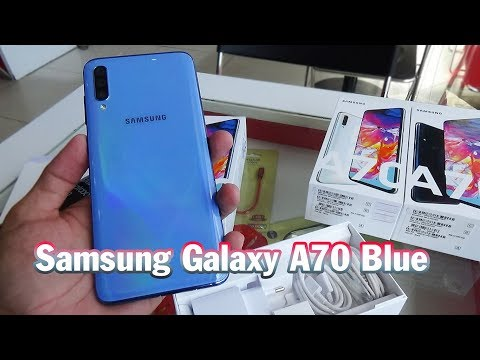 Unboxing Samsung Galaxy A70 Blue Color