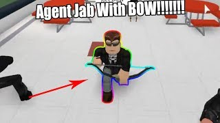 ¡Agente Jab con arco! (Escuela Secundaria Roblox Roblox)