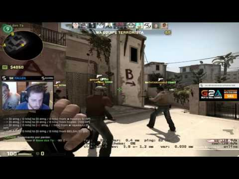 CS:GO - FalleN playing ESEA [Mirage] - Fallen stream twitch 60FPS