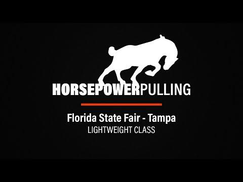 2020 Horse Pull Championship - Florida State Fair - Tampa, Florida