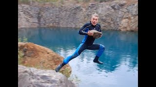 CLIFF DIVING & 105 ft HOMEMADE BUNGEE JUMPS