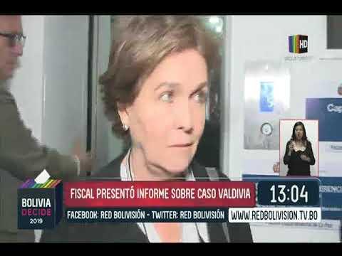 Fiscal presentó informe sobre caso Valdivia