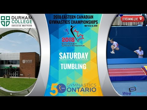 Saturday - Tumbling - 2018 Eastern Canadian Gymnastics Championships