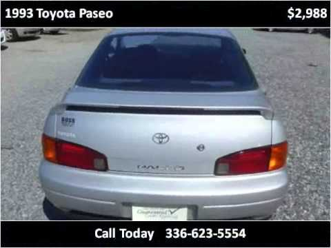 1993 Toyota Paseo Used Cars Eden Nc Youtube
