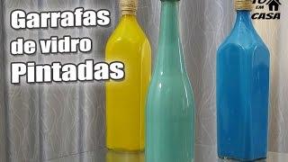 Como Pintar garrafas de Vidro – Tô em Casa
