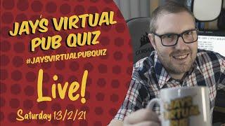Virtual Pub Quiz, Live! Saturday 13th February