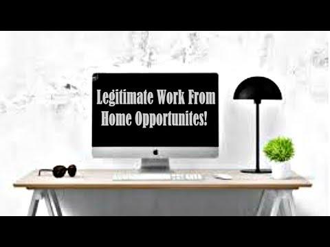 Legitimate Work At Home Opportunities