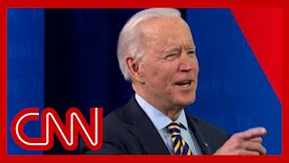 Biden cracks joke when asked about what it's like in White House now