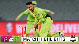Record-breaking Thunder romp to victory over Sixers   KFC BBL 10