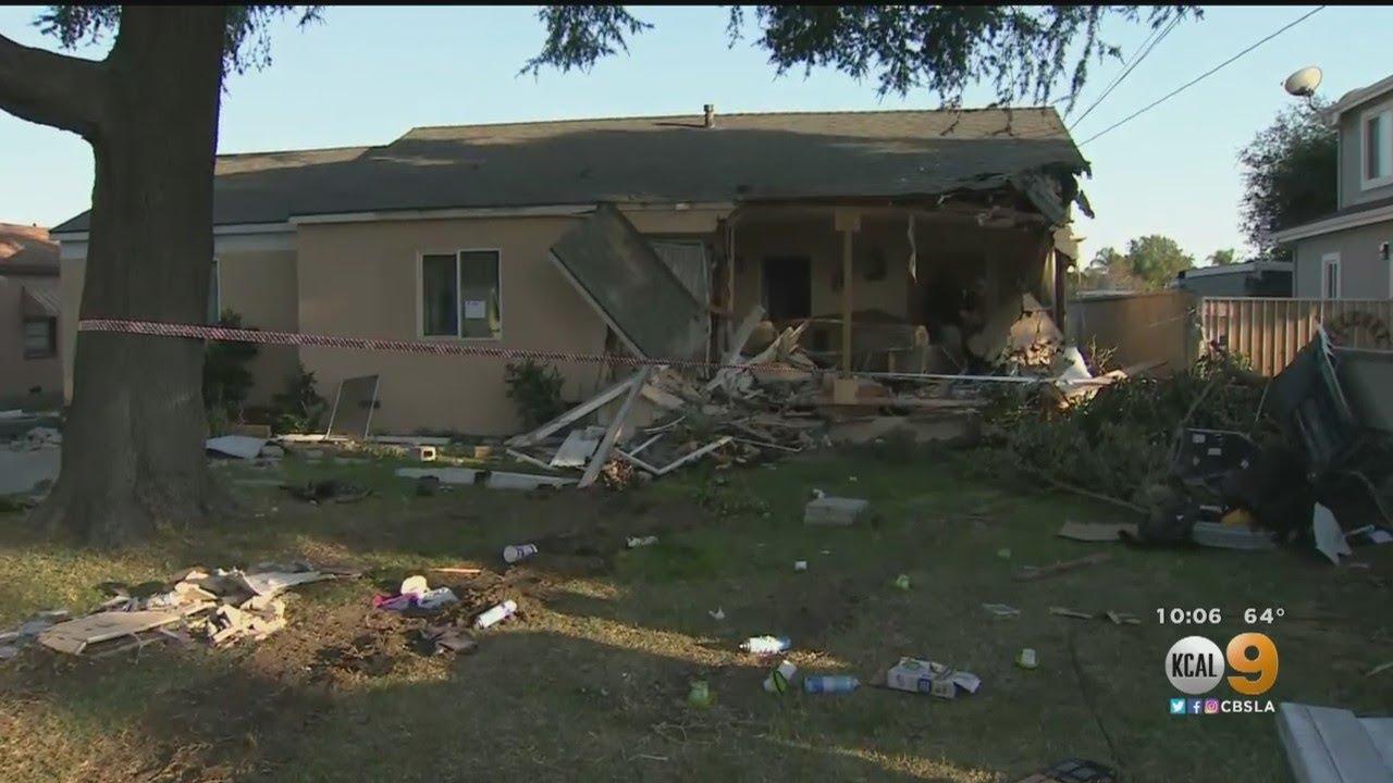 Stolen Semi-Truck Crashes Into Pomona Home