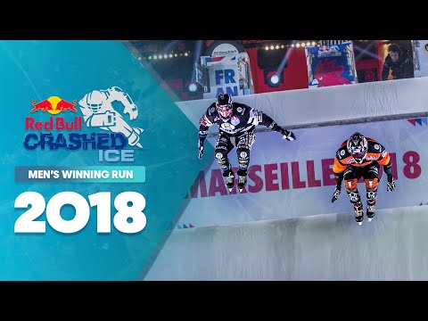 Who won Red Bull Crashed Ice 2018 France - Men's Winning Run.