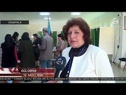 Zaqatala rayonunda seçki prosesi (ATV Xəbər 11-00, 11.04.2018)
