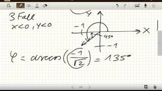 Kartesische Koordinaten in Polarkoordinaten umrechnen (Theoretische Physik)